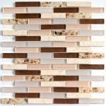 Мозаика Bonаparte Shell Stone коричневая матовая 30x30