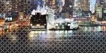Панно Береза-керамика Колибри Город 3 графитный 25х50